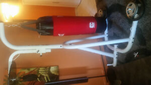 Punching bag stand set