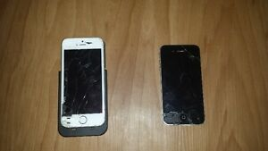 iphone 4/iphone 5s (broken screens)