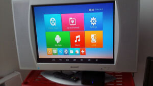 LCD tv plus android TV box