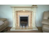 Fire surround wood painted