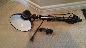 STUDENTS: 2 Black Clip-On Desk Lamps