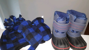 Winter boots, hat & mitts