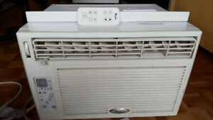 Window air conditioning-  Whirlpool  8000 btu +plexiglass