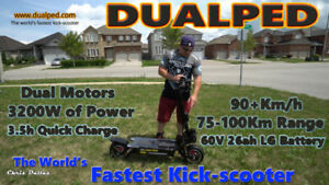Dualped World's Fastest Kick-scooter..Affordable Luxury Vehicle