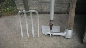 garden hoe or fork