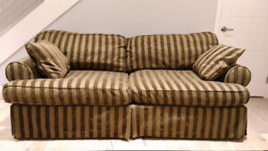 USA-Made Fabric Couch with Goose Down Cushions