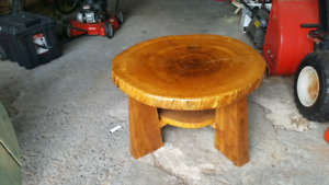 Coffee table made from tree