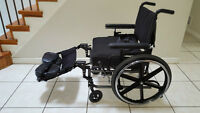 Breezy 600 Foldable Wheelchair with Elevating Footrest