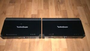 PAIR OF MATCHING ROCKFORD FOSGATE AMPS 4 SALE