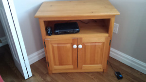 Solid pine microwave or tv stand