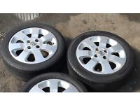 """X2 Vauxhall Corsa C Sxi 15 """" Alloy Wheel & Premium Tyre 185 55 R15 82V Ideal Spare / Replacement."""