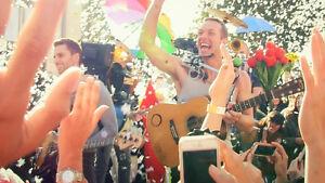 Recherche 3 billets Coldplay section rouge 350$/billets