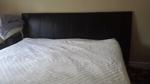 Stearns & Foster King size bed with headboard, frame and linnens