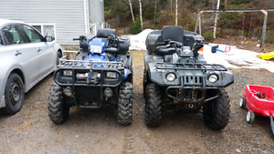 Two 4x4 atv's with papers ready to ride 6000 for both