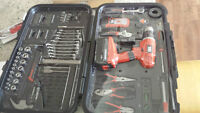 Black & Decker 18V Cordless Drill with 130 piece Kit