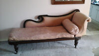 Antique Chaise Lounge / Fainting Couch. Pre-1900's, original