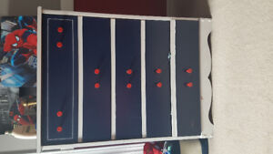 blue and white painted dresser for sale
