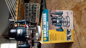 Plunge Router and bits - new