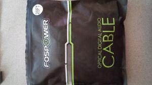 Câble Optique FosPower 25 Pieds, Plaqué Or 24K, Certifié CL3.