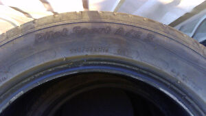 4 Used all season Michelin tires 205/55ZR16 $150 for 4 60%left.