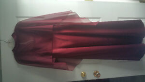 Long deep burgandy dress