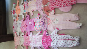 Gently used baby girl clothing 0-6 months