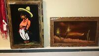 2 velvet paintings for sale