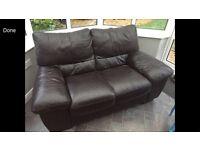 Brown leather two setter sofa Italian