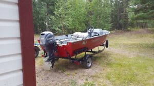 Angler V Boat with 40HP Yamaha Outboard and Trailer