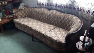 Antique Couch and Chair - Parlour Set