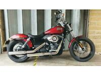 Harley Davidson Dyna Street Bob 103 FXDB, 2016, 7619 Miles, Immaculate Condition