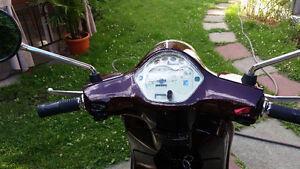 Vespa lx50 de couleur prune