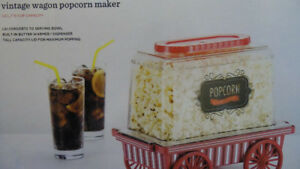 PC Vintage Wagon Popcorn Maker $20**Brand New**