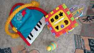Baby toys and playmat