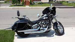 Vulcan 900 quick release back rest/ luggage rack