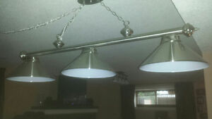 Hanging Chrome POOL TABLE LIGHT ,  Exelent Condition