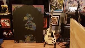 Slash Original Painting 33 X 44 Gins N Roses Art Wood By LeBach