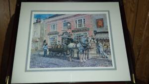 """Framed numbered Artists Proof of """"The Pub"""" by artist Barrie Pear"""