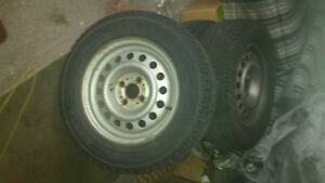 Four snow tires with rim for sale London Ontario image 2