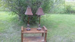 TWO TALL TABLE LAMPS