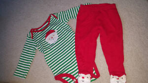 Size 0-3 month christmas outfit