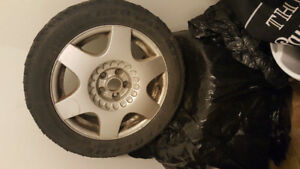 16' vw alloy rims with winter tires