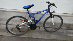 "Dual suspension mountain bike 26"" wheels"