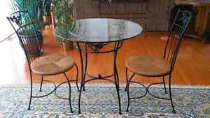 Bistro Set Hand Forged Iron from De Boers