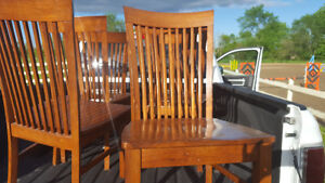 6 chairs $60 for the lot