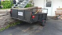 remorque 4x7do idéale pour charge le VTT SKd petit tracteur,bois