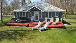 Lakefront cottages for rent located at the Winnipeg beach MB