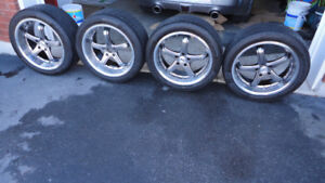 4 mags starget tsw 19 pneus 275 40 zr19 pour mustang