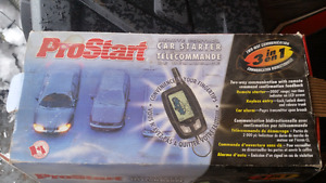 Remote car/truck starter and alarm
