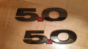 5.0  ( BLACK BADGES ) SET OF 2 --- $50 FIRM